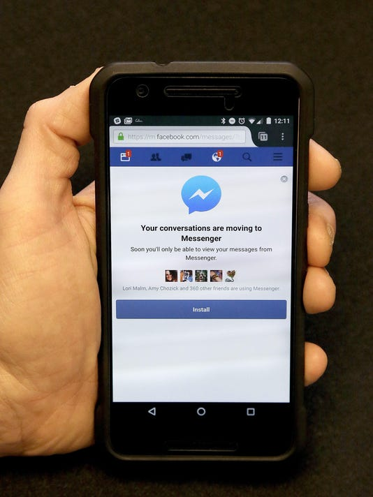 Facebook Getting Pushy With Messenger