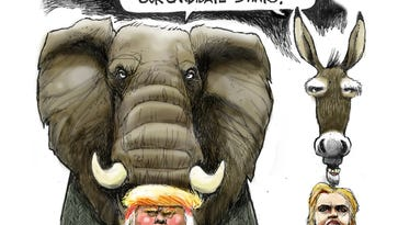 Benson cartoons, March to May 2016