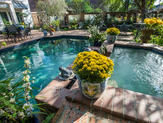 The backyard at the home of Michael Huber and Carolyn