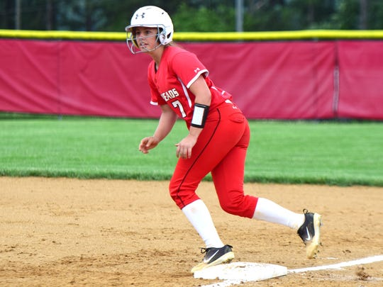 Riverheads catcher Carmon Bradley was one of five Gladiators named to the first team of the VHSL All-Region 1B Softball team
