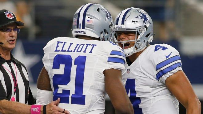 Cowboys rookies Ezekiel Elliott and Dak Prescott have led the team to the NFC's No. 1 playoff seed.