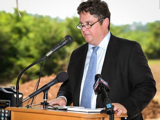 Chris Dischinger, owner of LDG Development, speaks