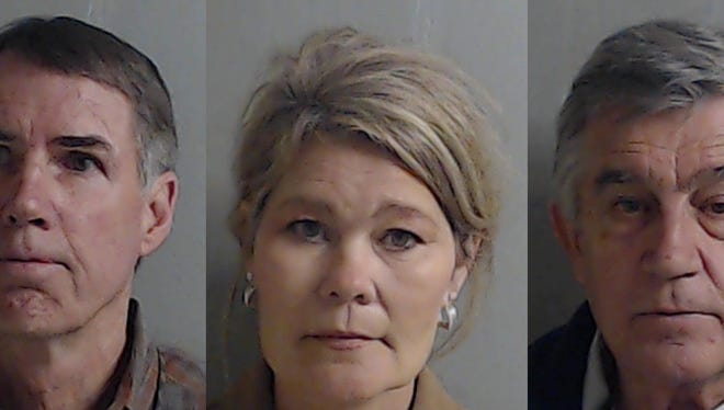 Andrew Crisp, Leslie Pace and Fred Paceeach face charges for allegedly misappropriating money, credit, labor, services and equipmentfrom Legendary Marine for a period between 2010 and 2014, according to the State Attorney's Office.