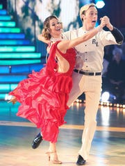 "Riker Lynch with Allison Holker on ""Dancing With the"