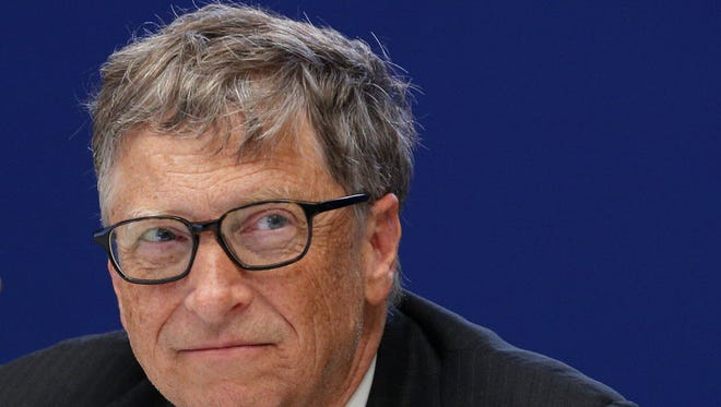 Bill Gates, philanthropist and co-founder of Microsoft, attends a conference at the United Nations Climate Change Conference outside Paris on Nov. 30, 2015.