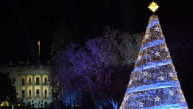National Christmas Tree Lighting near the White House, Washington, Nov. 30, 2017.