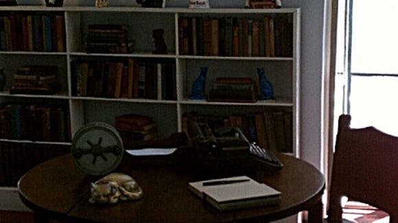 This is the inside of Hemingway's study in Key West, Fla.