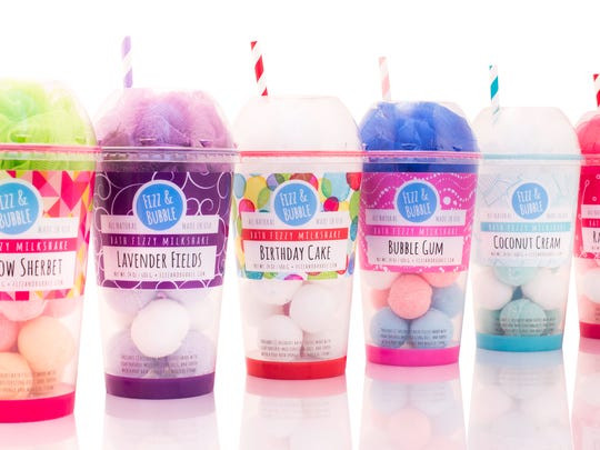Super-cute packaging is the crowning touch for these American-made bath fizzies.