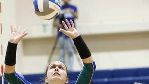 Junior setter Kristyn Nicholson leads Texas A&M-Corpus Christi in assists and aces.