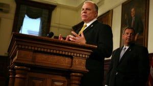 Senate President Steve Sweeney (Governor's Office/Tim Larsen)