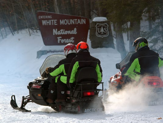 US Forest Service Snowmobiles