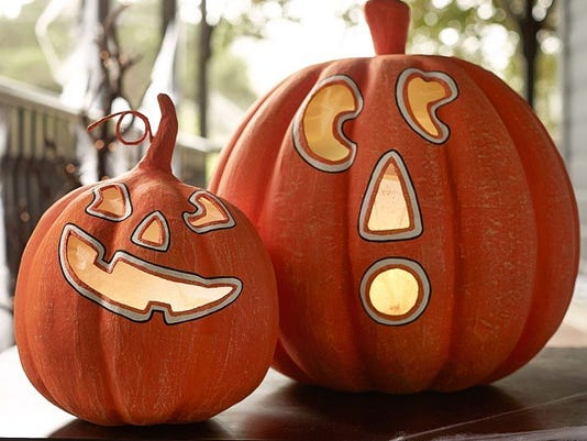 papier-mâché pumpkin