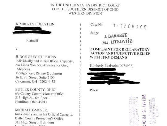 This lawsuit, alleging Butler County Judge Greg Stephens