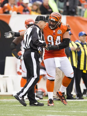 Domata Peko discusses a call with an official in 2012.
