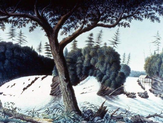 1. Vergennes Falls - Davies 1766 - Royal Ontario Museum
