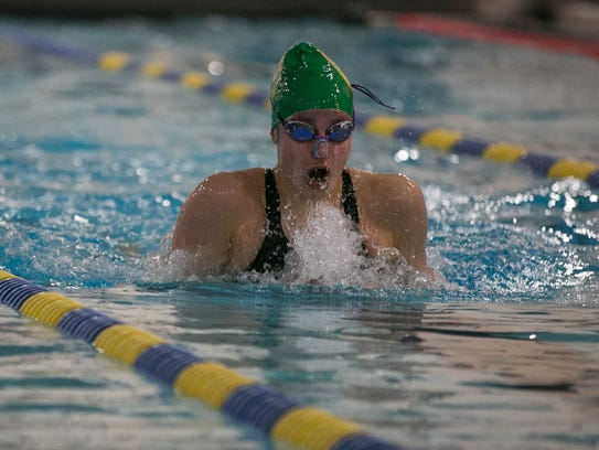 Montville's Victoria Eisenhauer swims to win the 200-meter
