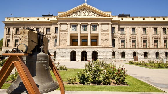 The Arizona Capitol Museum is spread over four floors at the state Capitol and includes exhibits on the state?s 15 symbols and other Arizona icons.  Jack Kurtz/The Republic The Arizona Capitol Museum is spread over four floors at the state Capitol and includes exhibits on the state?s 15 symbols, Fred Harvey and the Harvey Girls and other Arizona icons.  Jack Kurtz/The Republic The Arizona Capitol Museum on the grounds of the state capitol. Credit: Jack Kurtz/The Arizona Republic.