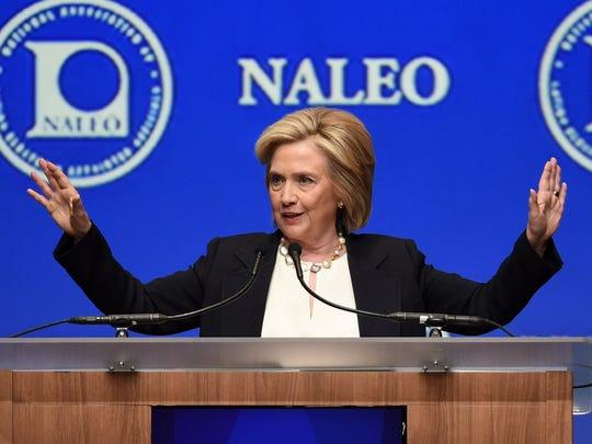 Democratic presidential candidate and former U.S. Secretary