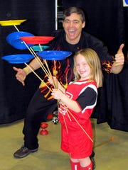 Cascading Carlos, a Delmarva juggler, will be at the