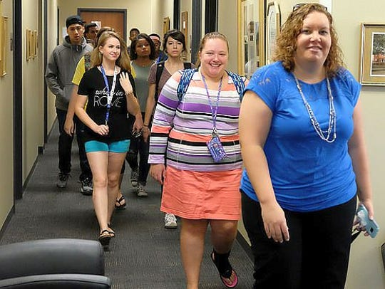 Prospective students are invited to take a tour of