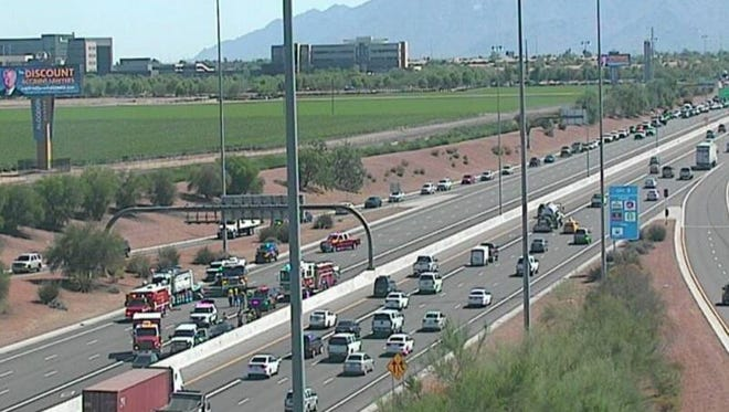 A crash Thursday afternoon closed Loop 101 northbound in the West Valley. Traffic was forced to exit at Indian School Road.