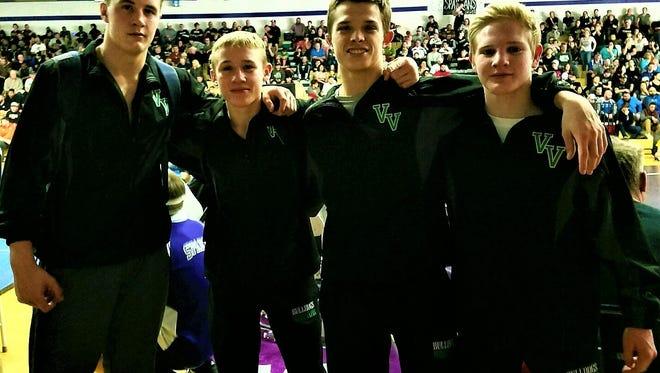 Four Virgin Valley wrestlers won state championships last weekend.