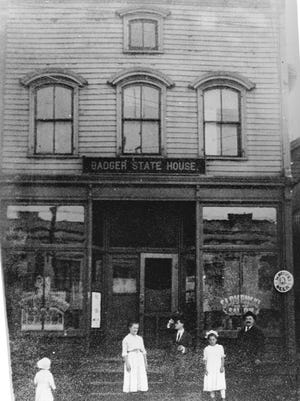 Badger State House, an early tavern and boarding house on Indiana Avenue. It housed many of the new Slovenian lads who came to Sheboygan looking for work.