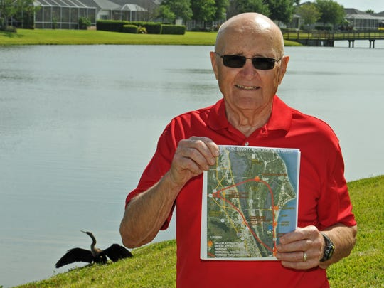 Angelo Turiano, 84, of Viera, has a very ambitious proposal for Brevard County to build World of Air & Water, which will feature the world's best and largest water park, and an overhead monorail system for various stops around Brevard.