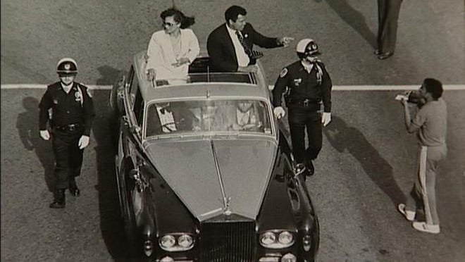 Muhammad Ali served as the Grand Marshal of the 1981 Kentucky Derby Festival Pegasus Parade
