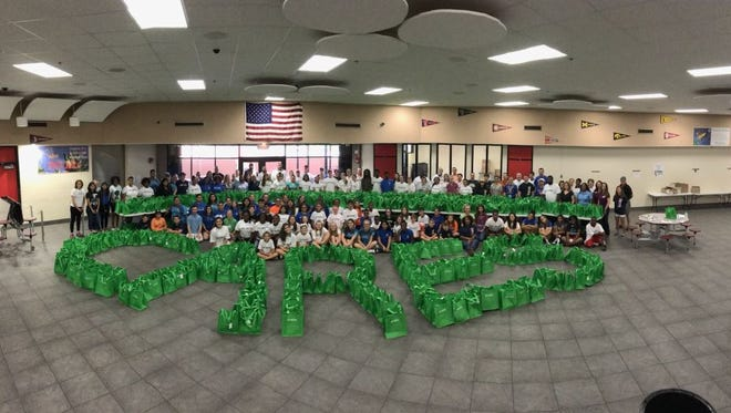 One thousand care kits were put together for the homeless.