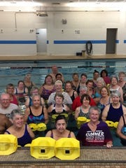 The morning swimming group meets at the State Street YMCA.