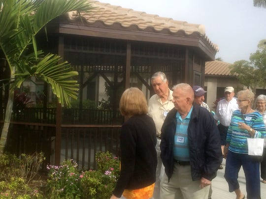 A group of seniors visits Inspired Living, a memory care community in Bonita Springs, on Feb. 8, 2017. The group visited three retirement communities to get ideas of what's available. The tour was organized by Naples-based Senior Housing Solutions.