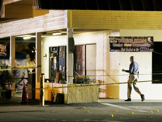 Fort Myers Police work the scene early Monday morning