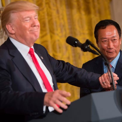 Foxconn announces $10 billion investment in Wisconsin and up to 13,000 jobs