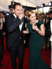 Leonardo DiCaprio and Kate Winslet attend the 22nd