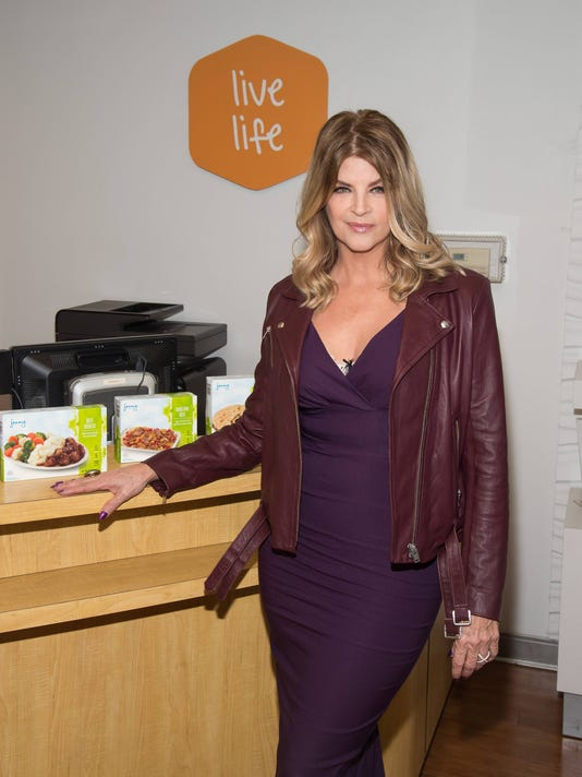 """AP KIRSTIE ALLEY CELEBRATES 50 LBS. DOWN WITH """"CHEERS"""" THEMED JENNY CRAIG CAMPAIGN A ENT CPAENT USA NY"""