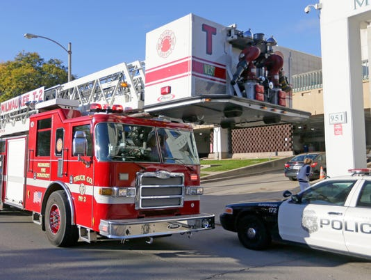 MJS fire truck squad car