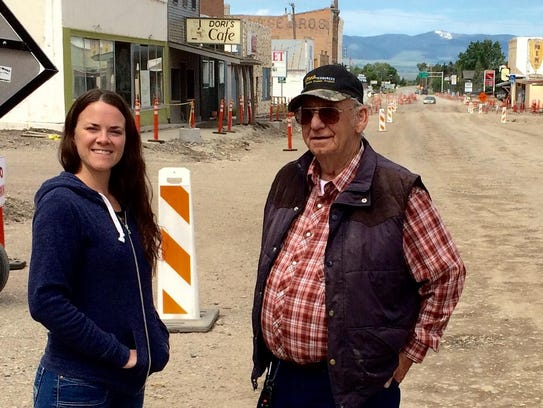 White Sulphur Springs Mayor Julian Theriault stands
