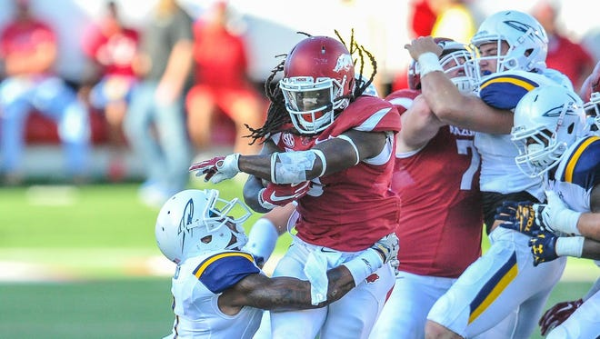 A 1,000-yard rusher his first two seasons, Alex Collins is expected to see an increased workload against Texas Tech on Saturday as Arkansas looks to lean more on its running game following last week's upset loss to Toledo.