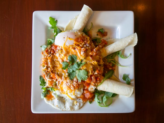 The Huevos Rancheros at Taproot Lounge & Cafe features
