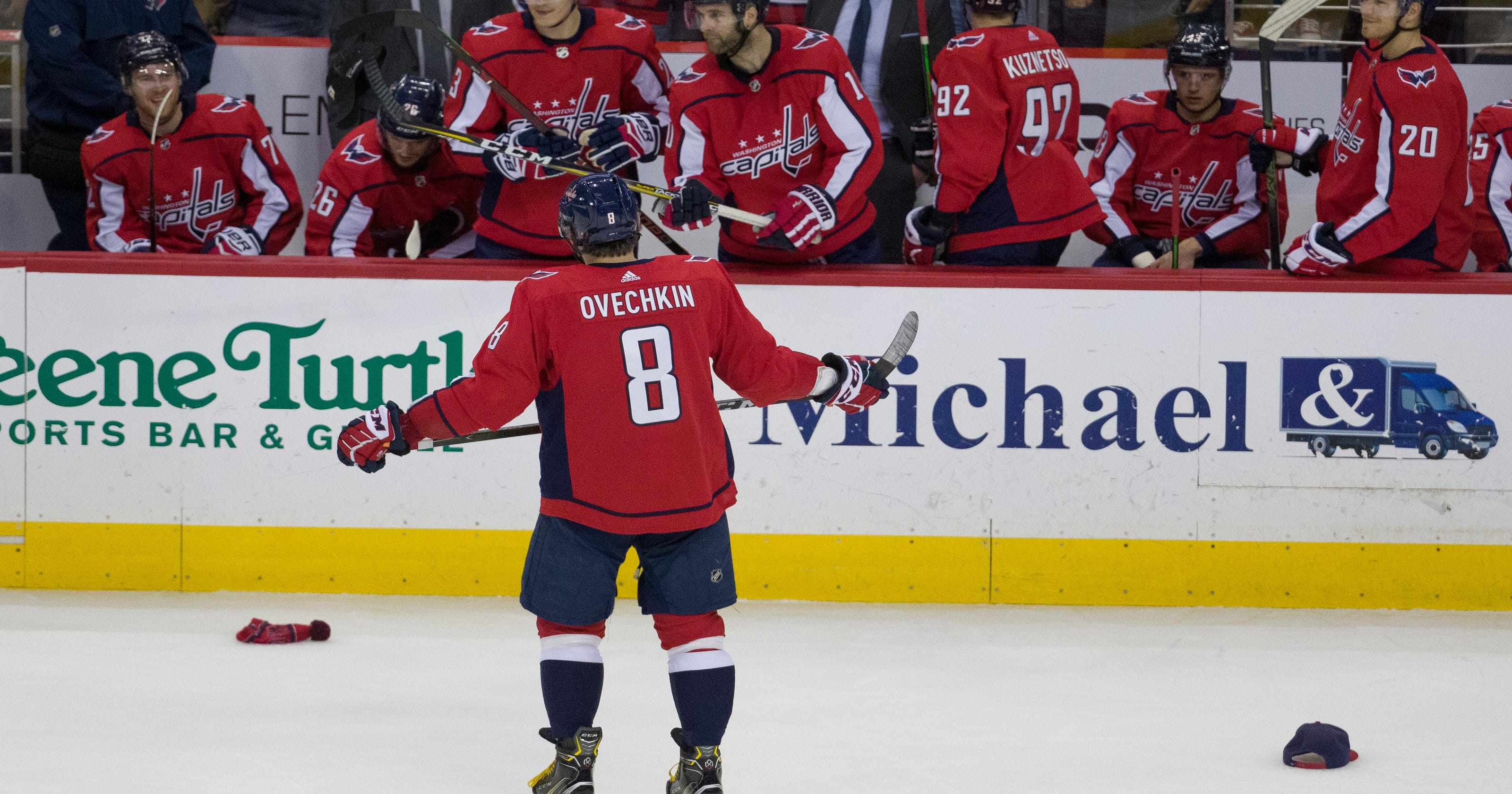 c2d93c0d996 Ovi s 21st hat trick helps Caps to 6-2 rout of Red Wings