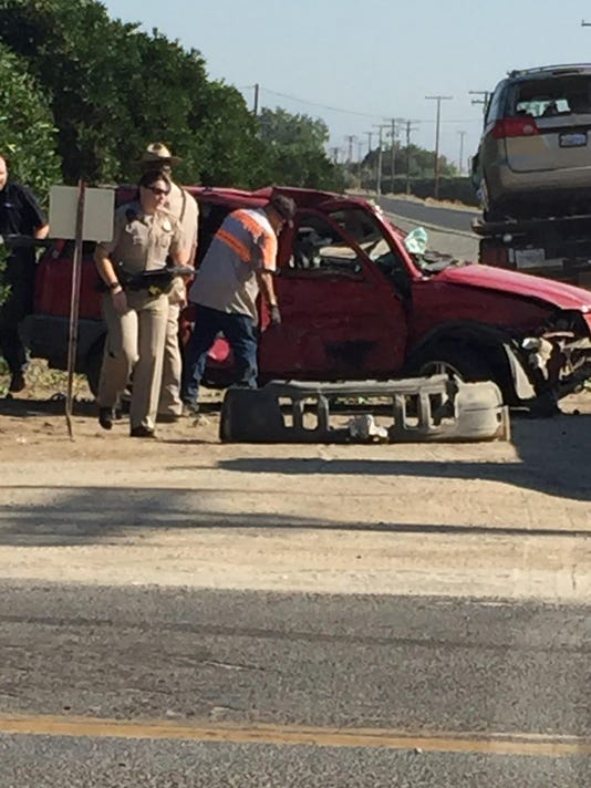 Two injured in crash north of Visalia