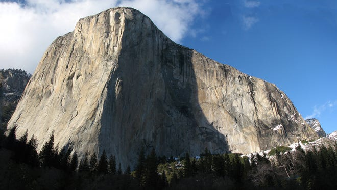Salem climbers Matt and Scott Phillips climbed up the 3,000 vertical feet of The Nose route on El Capitan, seen here, in June.
