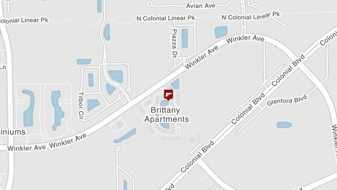 Fort Myers police are investigating a shooting at the Brittany Apartments.