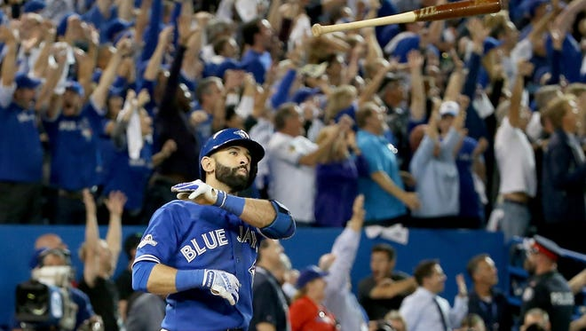 Joey Bats lets if fly