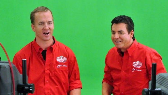 "Peyton Manning is known as ""Papa John"" in Denver. He owns 21 Papa John's franchises and has been the spokesman for the pizza company, starring in many commercials with CEO and founder John Schnatter."