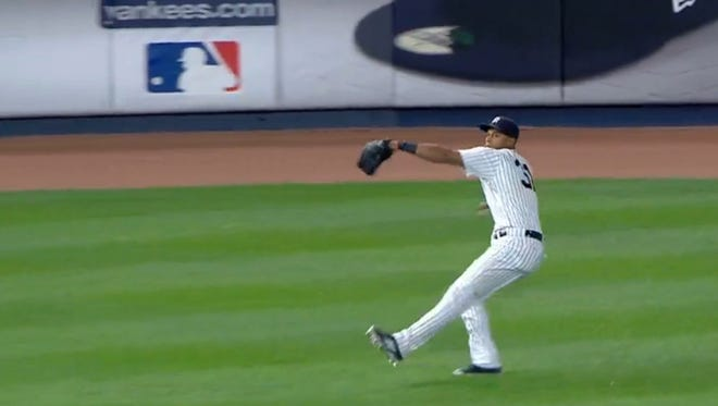 New York Yankees left-fielder Aaron Hicks, a former member of the Fort Myers Miracle, threw a baseball that was measured at 105.5 miles per hour Wednesday night, the fastest throw recorded in MLB history.