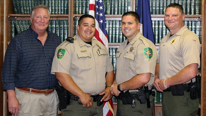 Pictured from left to right, Sheriff Rodney Arbuckle, Sgt. George Walton, Cpl. Michael Dunn, Sr. Deputy Roman Hanks.