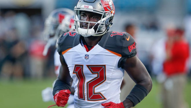 Chris Godwin had 34 catches for 525 yards and a touchdown as a rookie last season for the Tampa Bay Buccaneers.
