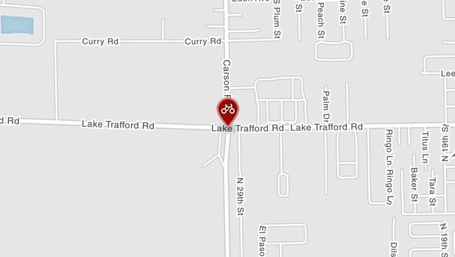 A bicyclist suffered serious injuries after troopers say he crossed into the path of a vehicle on Lake Trafford Road